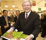 Prime Minister Rudd gives Aussie Beef a helping hand in Japan