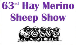 63rd Hay Merino Sheep Show